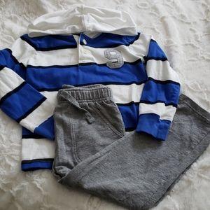 Lot of 2 - OshKosh Hooded Pullover & Pant Bundle